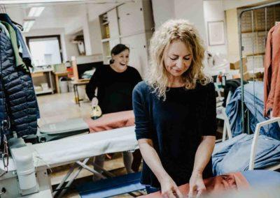 Team at ironing